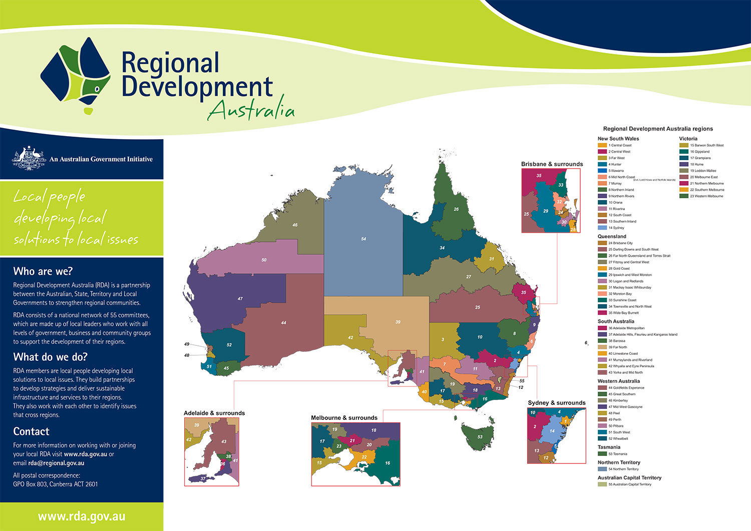 RDA Map National