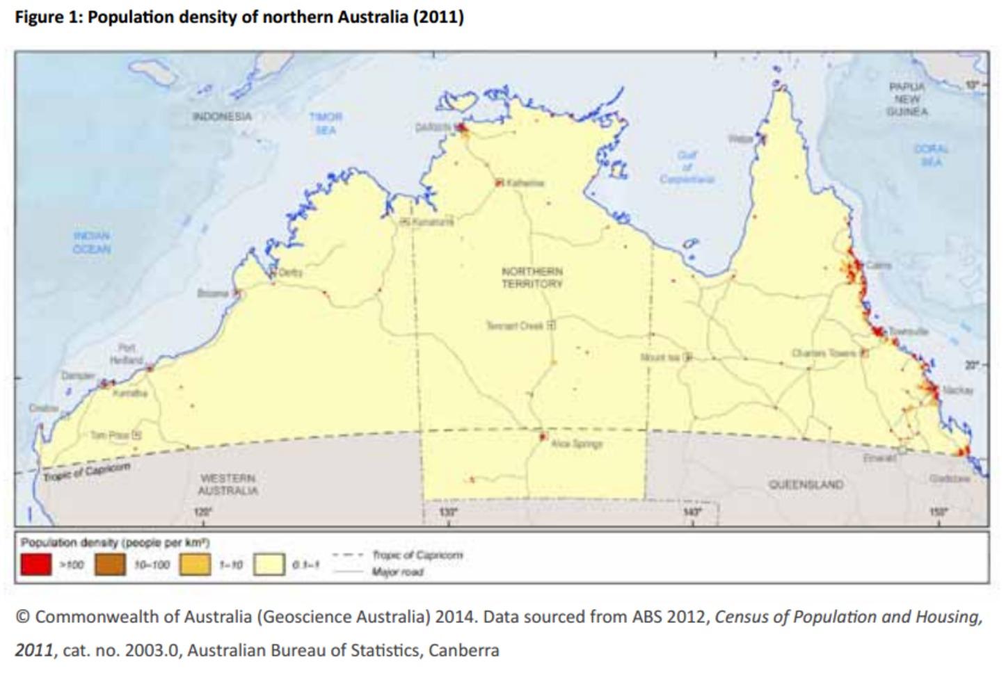 Northern Australia map