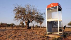 Phone box in the outback