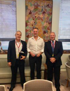 Picture of Rob Kendrick, Hon. Nigel Scullion & Steve Edgington